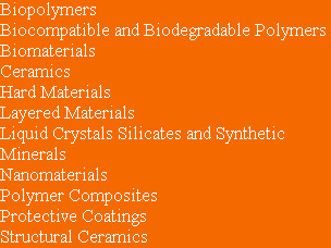 Biopolymers Biocompatible and Biodegradable Polymers Biomaterials Ceramics Hard Materials Layered...